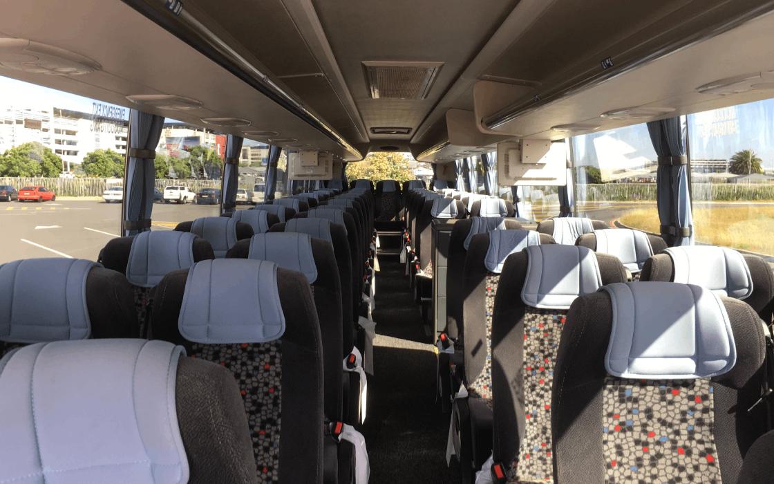 Luxury Coach Hire Interior Port Elizabeth